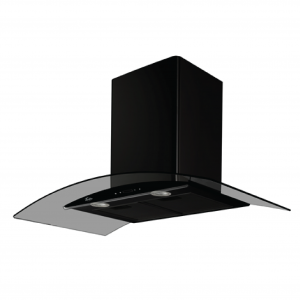 Turbo TAE96-BK 90cm Black Colour Chimney Hood with Touch Control