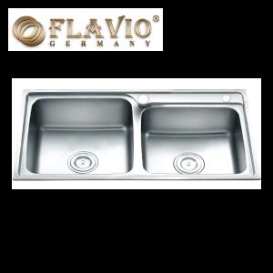 Flavio FL-8245 Double Bowl Top Mount Kitchen Sink