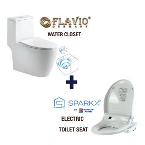 Flavio FL-138 Water Closet + Sparkx Toilet Seat