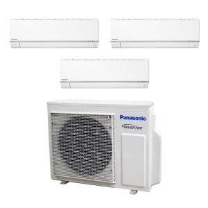 Panasonic SYSTEM 3 Aircon CU-3XS27UKZ+2x CS-MXS9UKZ+CS-MXS18UKZ