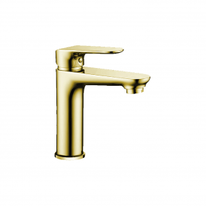 Flavio FL-3401BG Basin Mixer Tap Brushed Gold